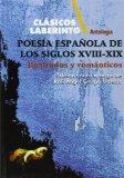 Portada de POESIA ESPAÑOLA DE LOS SIGLO XVIII-XIX: ILUSTRADOS Y ROMANTICOS