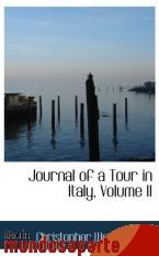 Portada de JOURNAL OF A TOUR IN ITALY, VOLUME II