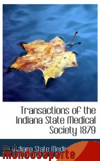 Portada de TRANSACTIONS OF THE INDIANA STATE MEDICAL SOCIETY 1879