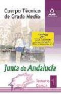 Portada de CUERPO TECNICO DE GRADO MEDIO DE LA JUNTA DE ANDALUCIA. TEMARIO COMUN. VOLUMEN I
