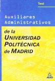 Portada de AUXILIARES ADMINISTRATIVOS DE LA UNIVERSIDAD POLITECNICA DE MADRID. TEST