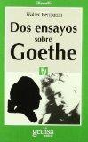 Portada de DOS ENSAYOS SOBRE GOETHE