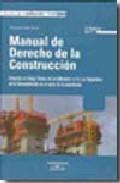 Portada de MANUAL DERECHO CONSTRUCCION