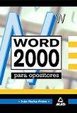 Portada de WORD 2000 PARA OPOSICIONES