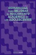 Portada de ESTRATEGIAS PARA MEJORAR EL RENDIMIENTO ACADEMICO DE LOS ADOLESCENTES