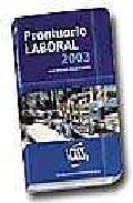 Portada de PRONTUARIO LABORAL 2003