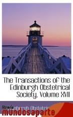 Portada de THE TRANSACTIONS OF THE EDINBURGH OBSTETRICAL SOCIETY, VOLUME XVII