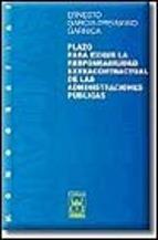 Portada de PLAZO PARA EXIGIR LA RESPONSABILIDAD EXTRACONTRACTUAL DE LAS ADMINISTRACIONES PÚBLICAS