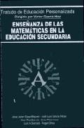 Portada de ENSEÑANZA DE LAS MATEMATICAS EN LA EDUCACION SECUNDARIA