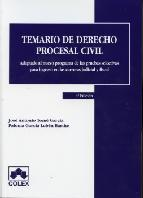 Portada de TEMARIO DE DERECHO PROCESAL CIVIL (4ª ED)