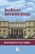 Portada de AUXILIARES ADMINISTRATIVOS DE LA DIPUTACION FORAL DE ALAVA: TEST