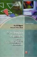 Portada de ESTRATEGIAS DOCENTES: ENSEÑANZA DE CONTENIDOS CURRICULARES Y DESARROLLO DE HABILIDADES DE PENSAMIENTO