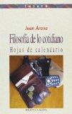 Portada de FILOSOFIA DE LO COTIDIANO: HOJAS DE CALENDARIO