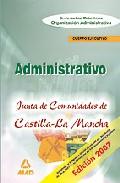 Portada de CUERPO EJECUTIVO  DE LA JUNTA DE COMUNIDADES DE CASTILLA LA MANCHA. SUPUESTOS PRACTICOS DE ORGANIZACION