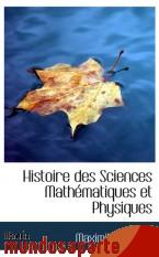 Portada de HISTOIRE DES SCIENCES MATHÉMATIQUES ET PHYSIQUES