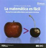 Portada de LA MATEMATICA ES FACIL: MANUAL DE MATEMATICA BASICA PARA GENTE DELETRAS