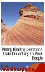 Portada de PENNY MONTHLY SERMONS. PLAIN PREACHING TO POOR PEOPLE