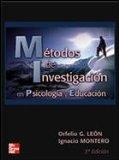 Portada de METODOS DE INVESTIGACION EN PSICOLOGIA Y EDUCACION