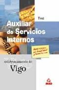 Portada de AUXILIAR DE SERVICIOS INTERNOS DEL AYUNTAMIENTO DE VIGO. TEST
