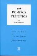 Portada de LOS PRIMEROS PRINCIPIOS