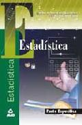 Portada de ESTADISTICA: PRUEBA ESPECIFICA