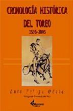 Portada de CRONOLOGÍA HISTÓRICA DEL TOREO 1526-2005