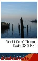 Portada de SHORT LIFE OF THOMAS DAVIS, 1840-1846