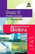 Portada de DIPUTACION FORAL DE BIZKAIA. GRUPO DE TEMARIO COMUN Y TEST