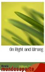Portada de ON RIGHT AND WRONG