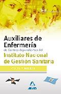 Portada de AUXILIARES DE ENFERMERIA DE CENTROS DEPENDIENTES DEL INSTITUTO NACIONAL DE GESTION SANITARIA. TEST