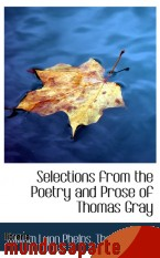 Portada de SELECTIONS FROM THE POETRY AND PROSE OF THOMAS GRAY