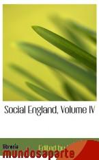 Portada de SOCIAL ENGLAND, VOLUME IV