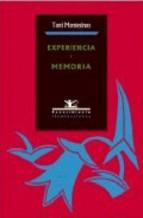 Portada de EXPERIENCIA Y MEMORIA