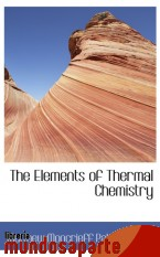 Portada de THE ELEMENTS OF THERMAL CHEMISTRY