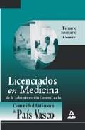 Portada de LICENCIADOS EN MEDICINA DE LA ADMINISTRACION GENERAL DE LA COMUNIDAD AUTONOMA DEL PAIS VASCO. TEMARIO