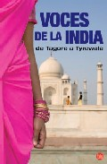 Portada de VOCES DE LA INDIA: DE TAGORE A TYREWALA