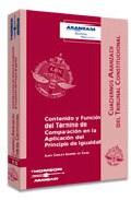 Portada de CONTENIDO Y FUNCION DEL TERMINO DE COMPARACION EN LA APLICACION DEL PRINCIPIO DE IGUALDAD