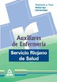 Portada de AUXILIARES DE ENFERMERIA DEL SERVICIO RIOJANO DE SALUD. TEMARIO YTEST DE MATERIAS GENERALES