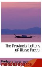 Portada de THE PROVINCIAL LETTERS OF BLAISE PASCAL
