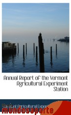 Portada de ANNUAL REPORT OF THE VERMONT  AGRICULTURAL EXPERIMENT STATION