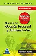 Portada de CUERPO DE GESTION PROCESAL Y ADMINISTRATIVA . TEMARIO VOLUMEN I