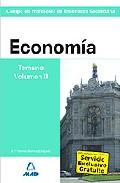 Portada de CUERPO DE PROFESORES DE ENSEÑANZA SECUNDARIA: ECONOMIA: TEMARIO: VOLUMEN III