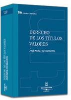Portada de DERECHO  DE LOS TITULOS VALORES