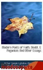 Portada de MODERN POETS OF FAITH, DOUBT, & PAGANISM: AND OTHER ESSAYS