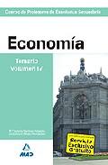 Portada de CUERPO DE PROFESORES DE ENSEÑANZA SECUNDARIA: ECONOMIA: TEMARIO: VOLUMEN IV