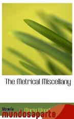 Portada de THE METRICAL MISCELLANY
