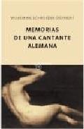 Portada de MEMORIAS DE UNA CANTANTE ALEMANA