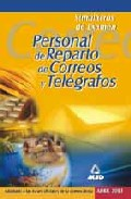 Portada de PERSONAL DE REPARTO DE CORREOS Y TELEGRAFOS. SIMULACROS DE EXAMEN