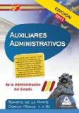 Portada de AUXILIARES ADMINISTRATIVOS DE LA ADMINISTRACION DEL ESTADO. TEMARIO DE LA PARTE COMUN
