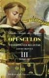 Portada de OPUSCULOS Y CUESTIONES SELECTAS III